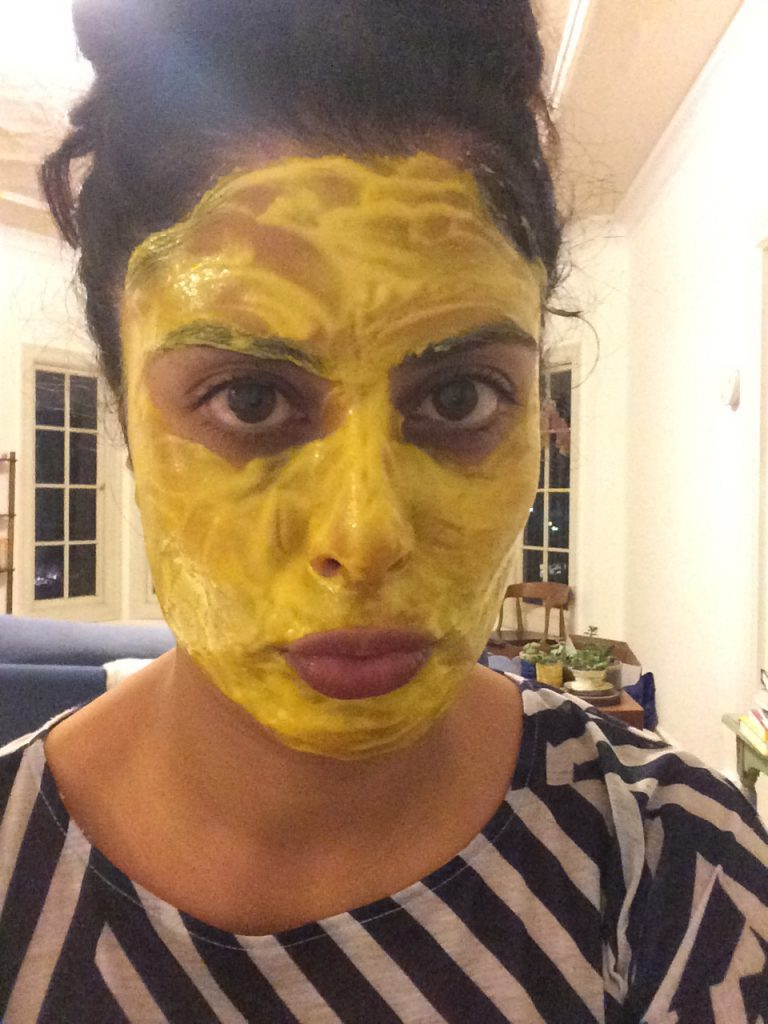 Me with Turmeric Mask