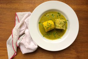 Corn in a Roasted Poblano Coconut Sauce - Chit.Chaat.Chai
